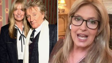 Rod Stewart's wife talks doctor's warning before going for dinner on day of son's birth