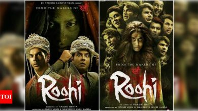 'Roohi': Janhvi Kapoor turns into a ghost bride in the latest posters featuring Rajkummar Rao and Varun Sharma - Times of India