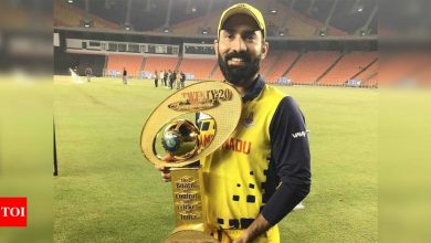 SMAT victory a tribute to TN's bench strength: Dinesh Karthik | Cricket News - Times of India