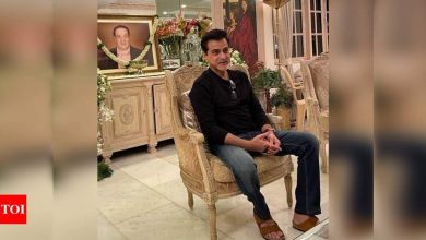 """Sanjay Kapoor shares a picture from Rajiv Kapoor's prayer meet; captions, """"You will always be in my Heart"""" - Times of India"""