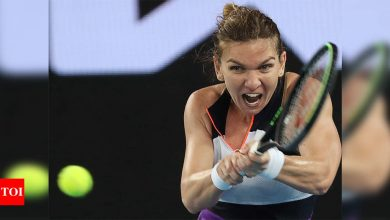 Second seed Halep survives huge scare to advance at Australian Open   Tennis News - Times of India
