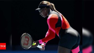 Serena Williams' leotard a sheer delight as temperature rises   Tennis News - Times of India
