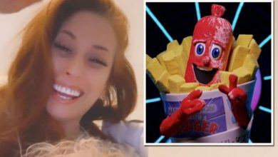 Stacey Solomon ignores latest Masked Singer claims as she shares