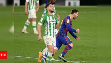 Super-sub Messi leads Barcelona comeback against Betis   Football News - Times of India