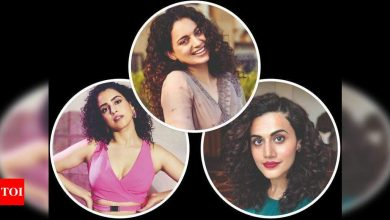 Take a cue from Kangana, Taapsee and Sanya and flaunt those natural curls - Times of India