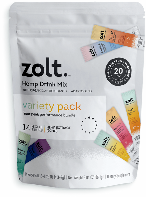 STYLECASTER | Best CBD Drinks | Zolt Mixie Sticks