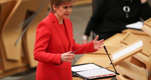 Nicola Sturgeon set out the Scottish Government's route map out of lockdown on 23 February. (Photo: Getty Images)