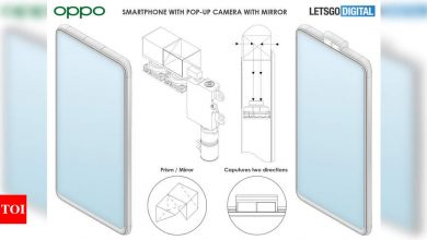 This could be how future Oppo phones with pop-up selfie camera may look like - Times of India