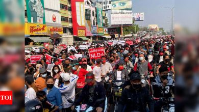 Thousands protest again in Myanmar against coup - Times of India