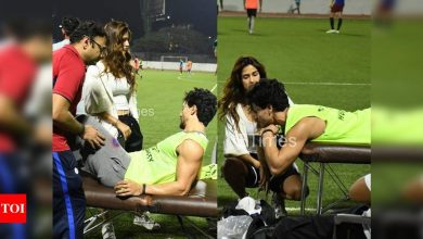 Tiger Shroff gets injured during his soccer session in the city; Disha Patani remains by his side - Times of India