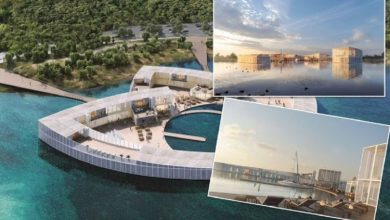 UK travel: Britons could soon enjoy a staycation at £35 million floating spa resort
