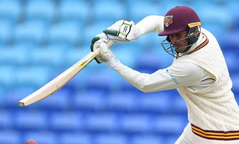 Usman Khawaja's classy unbeaten hundred secures Queensland's big chase