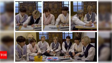 WATCH: BTS get creative for Korean New Year as they come together to create hand-made cards - Times of India