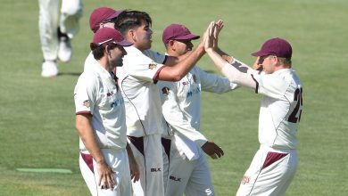 Xavier Bartlett four-wicket haul sets up Queensland for a thrilling final-day chase