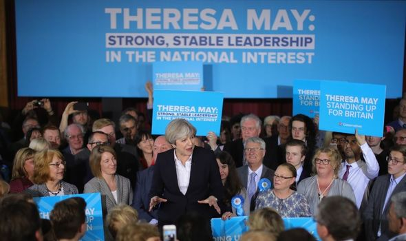 Theresa May during the 2017 general election race