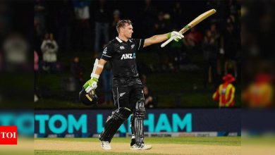 2nd ODI: Tom Latham ton secures New Zealand's series-clinching win against Bangladesh | Cricket News - Times of India