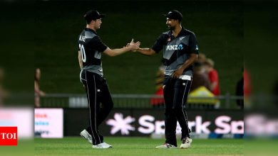 2nd T20I: New Zealand seal series with 28-run win over Bangladesh   Cricket News - Times of India