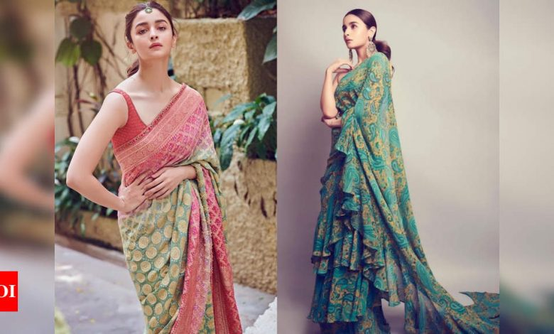 5 times Alia Bhatt made a stunning appearance in a designer sari - Times of India
