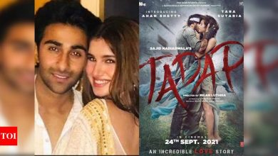 Aadar Jain can't wait for girlfriend Tara Sutaria's 'Tadap'; check out the actress' response - Times of India
