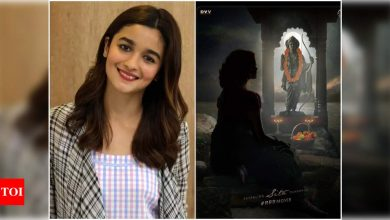 Alia Bhatt teases her fans with a silhouette image of her look from SS Rajamouli's 'RRR'; First look to be unveiled tomorrow ! - Times of India