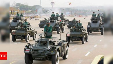 Amid crackdown, India & 7 other countries attend Myanmar military parade - Times of India