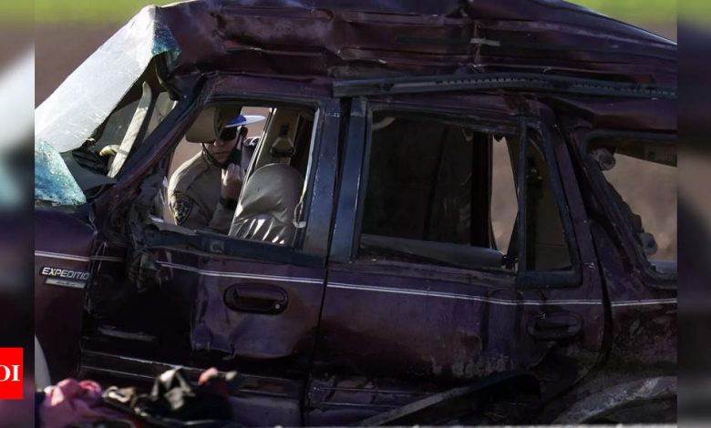 At least 13 dead after SUV, truck collide in California - Times of India