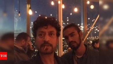 Babil Khan shares pics of the times when he and his father Irrfan Khan were trying to look like each other - Times of India