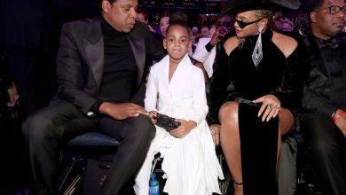 Blue Ivy drank from her Grammy statue with a straw