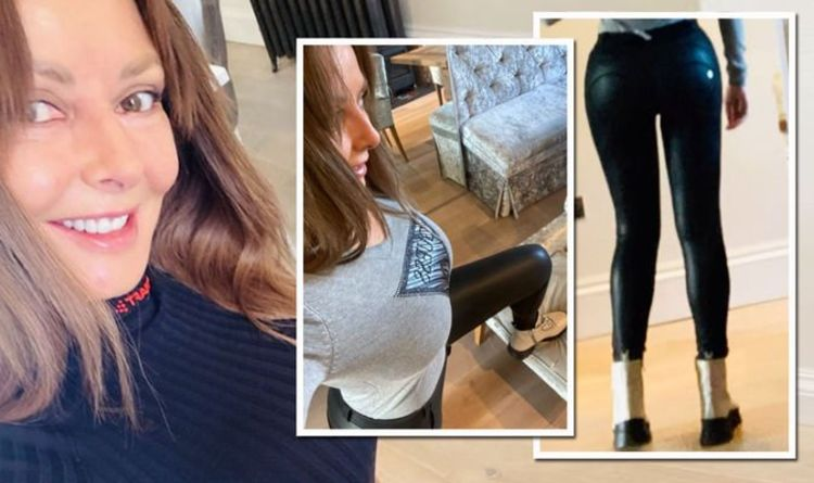 Carol Vorderman: Countdown star draws attention to pert bottom with skintight trousers