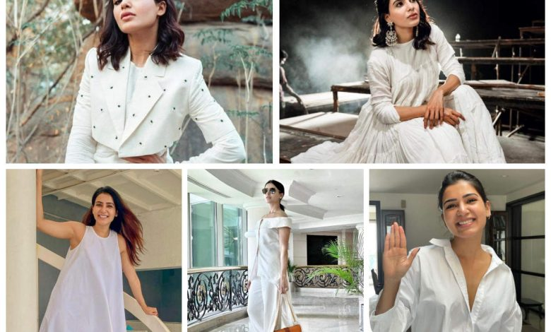 Casual to classy: Here's how Samantha slayed in white  | The Times of India