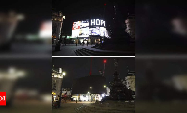 Cities worldwide dim lights to mark Earth Hour - Times of India
