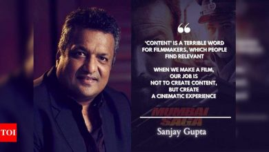 Exclusive Interview! 'Mumbai Saga' director Sanjay Gupta: My films are set in a completely different universe; I want them to have a colour palette and a style of their own - Times of India