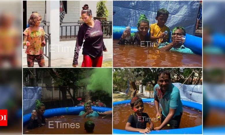 Exclusive! Nawazuddin Siddiqui's wife Aaliya's fight with brother-in-law Shamas ends; she and her kids play Holi with him - Times of India