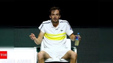Furious Medvedev joins list of famous names out of Rotterdam ATP | Tennis News - Times of India