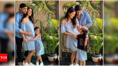 Geeta Basra is all set to welcome her second child with husband Harbhajan Singh in July - Times of India