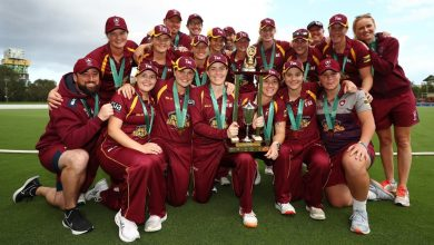 Georgia Redmayne 134*, Grace Harris four-for steer Queensland to maiden WNCL title