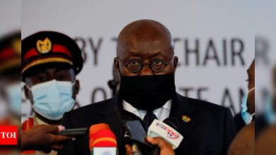Ghana president gets world's 1st Covax jab as US eyes J&J vaccine rollout - Times of India