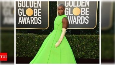 Golden Globes 2021: Cynthia Erivo's Valentino couture look is sure to make you green with envy - Times of India