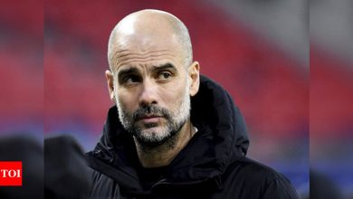 Guardiola admits pressure to win Champions League at Manchester City | Football News - Times of India