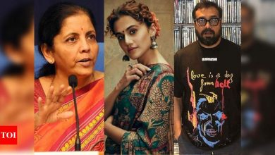 I-T raids on Taapsee Pannu, Anurag Kashyap: FM Nirmala Sitharaman says they were raided in 2013 as well - Times of India