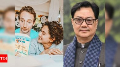 IT raids at Taapsee Pannu's house: Boyfriend Mathias Boe requests Union Minister Kiren Rijiju for help - Times of India