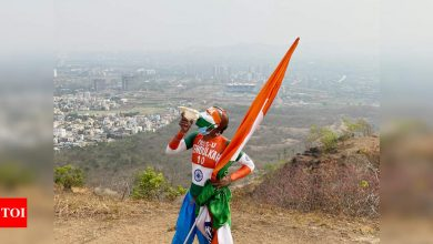 India vs England ODIs: How Sachin Tendulkar's 'super fan' Sudhir is walking through a forest and climbing a hill to catch stadium action | Cricket News - Times of India