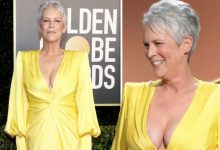 Jamie Lee Curtis, 62, sparks frenzy as she stuns in plunging gown at the Golden Globes