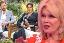 Joanna Lumley accuses Harry and Meghan of 'spreading hatefulness' with Oprah interview