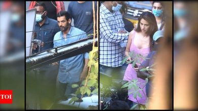 John Abraham and Disha Patani spotted shooting for 'Ek Villain Returns' in the city; see pictures - Times of India