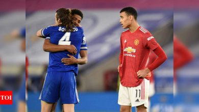 Manchester United:  Manchester United knocked out of FA Cup by Leicester City | Football News - Times of India