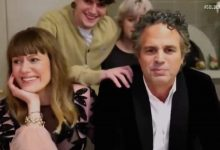Mark Ruffalo's kids crash his Golden Globes speech