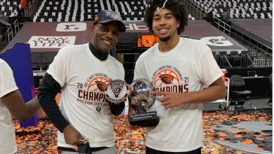 Oregon State's Ethan Thompson sharing run with dad who knows March Madness success