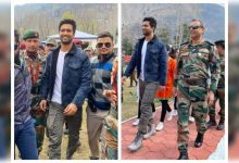 Photos: Vicky Kaushal visits Uri Base Camp in Kashmir: It is the biggest honour for me to be in the company of our great armed forces - Times of India