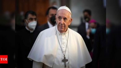 Pope urges Iraqis to shun violence and give peace a chance - Times of India
